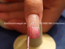 Nail lacquer in the colour pink