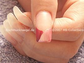 Nail polish in the colour lavender