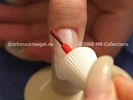 Neon nail polish in the colour orange