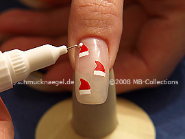 Nail art pen in the colour white