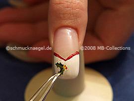 Sticker with a mistletoe