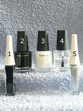 Products for chess motif - Nail polish, Nail art liner, Clear nail polish