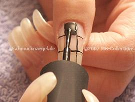 Nail polish in the colour black