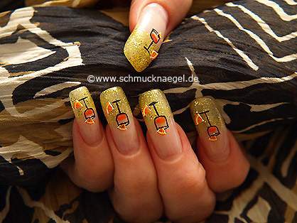 Nail art motif for the new years eve party