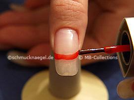 Nail lacquer in the colour dark orange