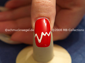Colour gel motif 001 - Nail art 156