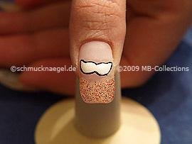 Colour gel motif 003 - Nail art 158