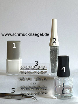 Products for the motif '3D sticker with strass stones' - Nail polish, Nail art liner, 3D Nail Sticker