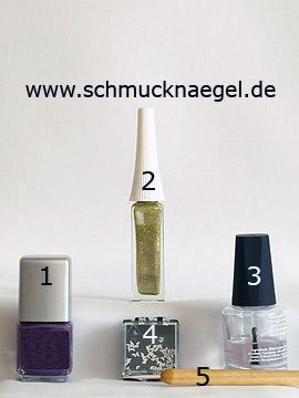 Products for the design 'Nail art heart shapes for a fingernail motif' - Nail polish, Nail art liner, Nail art shapes, Spot-Swirl