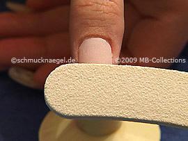 Abrade the fingernail