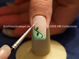 Nail art brush and colour gel in white