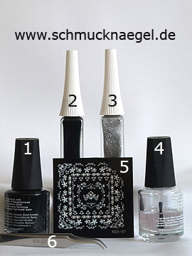 Products for the nail art sticker for french motif - Nail polish, Nail art liner, Nail sticker