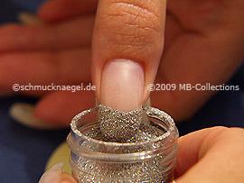 Glitter-Powder in the colour silver