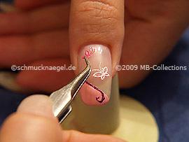 3-D butterfly nail sticker