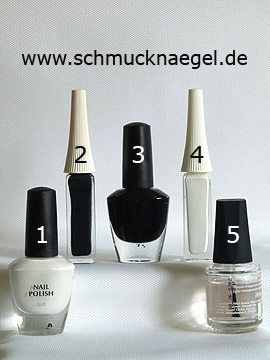 Products for the nail decoration with nail lacquers - Nail polish, Nail art liner