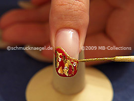 Nail art liner in the colour gold-Glitter