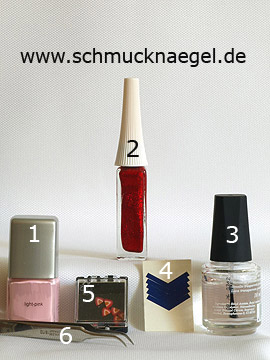 Products for the fingernail motif with fimo fruit - Nail polish, Nail art liner, French manicure templates, Fimo fruits