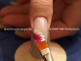 Flat brush with the acrylic