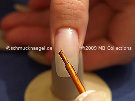 Nail lacquer in the colour brown