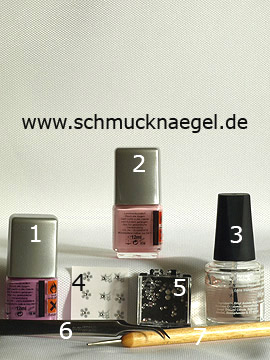 Products for the nail art with strass stones and nail sticker - Nail polish, Nail sticker, Strass stones, Spot-Swirl