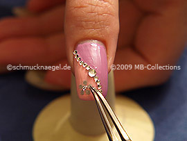 Nail sticker with strass stone