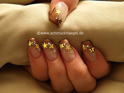 Stars and strass stones for fingernails