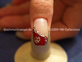 Valentine`s day motif 3: Nail art motif 203