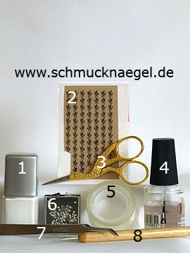 Products for the motif with nail tattoos and strass stones - Nail polish, Nail tattoos, Spot-Swirl, Strass stones