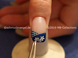 Nail art sticker and tweezers