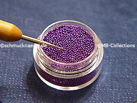 Nail art bouillons in lavender