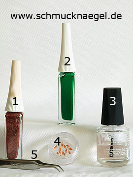 Products for the fingernail motif with dried flowers - Nail art liner, Dried flowers