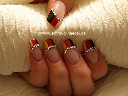 German national flag as fingernail motif