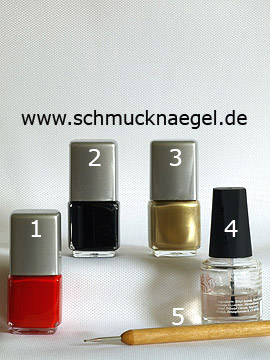 Products for the fingernail motif with pull method - Nail polish, Spot-Swirl