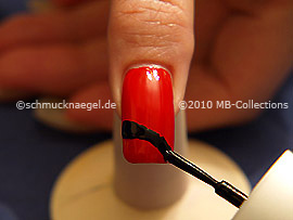 Nail lacquer in the colour black