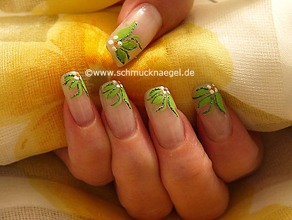 Flower motif with nail art liner and art pen