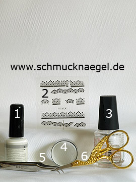Products for the motif with 3D nail sticker and metallic foil - 3D nail sticker, Metallic foil
