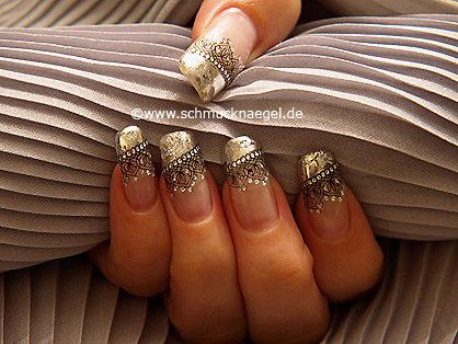 3D nail sticker and metallic foil