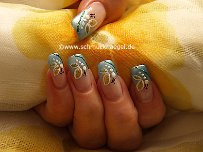 Butterfly motif as fingernail design