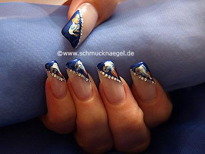 Sequins and various nail art pens