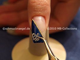 Nail art sticker and the tweezers