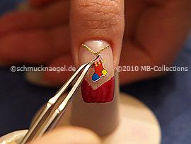 Sticker Saint Nicholas sock and the tweezers