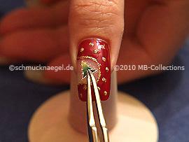 Christmas sticker fir tree and tweezers