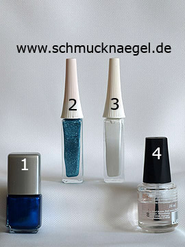 Products for the decorated fingernails with a French motif - Nail polish, Nail art liner