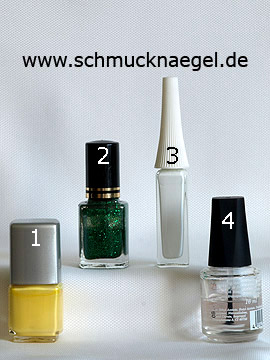Products for the Easter branch as fingernail decoration - Nail polish, Nail art liner