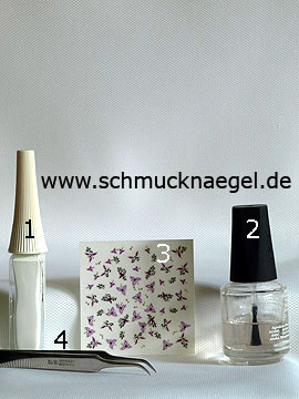 Products for the motif with 3D flower sticker to decorate the fingernails - 3D nail sticker, Nail art liner