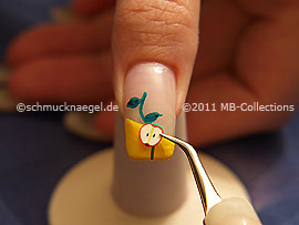 Fimo fruit and the tweezers