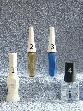 Products for motif Spring nails - Nail art liner, Nail art pen, Clear nail polish
