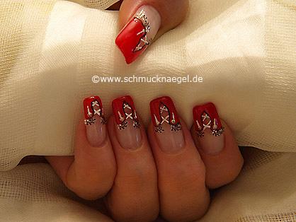 A corset as fingernail motif