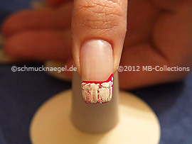 Crackle nail polish in the colour white