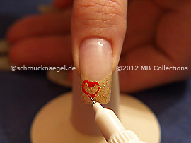 Nail art pen in the colour red